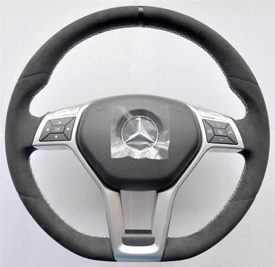 BLUE Aluminum Alloy Steering Wheel Emblem Ring Trim For Benz W204 W212 W166 GLK