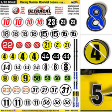 1/32 Slot Car Model Waterslide Decals IMPROVEMENT Number & Roundels #2 PRECUT