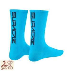 SUPACAZ STRAIGHT-UP LARGE--X-LARGE BLACK//GOLD TALL CYCLING SOCKS--ONE PAIR