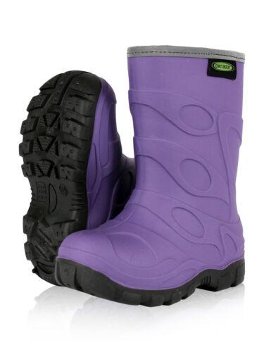 Dirt Boot ® Ragazzi Ragazze Inverno Termico Stivali Di Gomma Wellington Bambini PIOGGIA NEVE SCARPINE