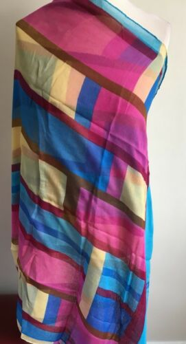SP84 Maxi//Oversize Block Striped Scarf//Hijab//Sarong//Wrap in Black,Blue,Red