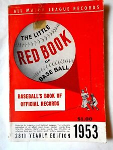 VINTAGE-1953-The-Little-Red-Book-of-Baseball-Major-League-Records