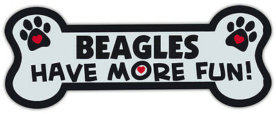 Dog Bone Shaped Magnets: Beagles Have More Fun! | Cars, Trucks, Mailboxes