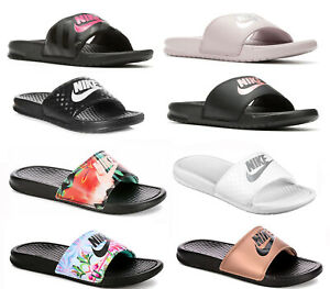 finest selection 4a1d8 7794b Image is loading New-Nike-Benassi-Sandals-Sport-Slides-Womens-various-