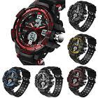 Hot Waterproof Alarm Men's Watch Sports Digital Analog Dail Quartz Wrist Watch