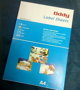 100 SHEETS A4 Printable White Self Adhesive Sticker Paper Ink Jet and Laser Jet