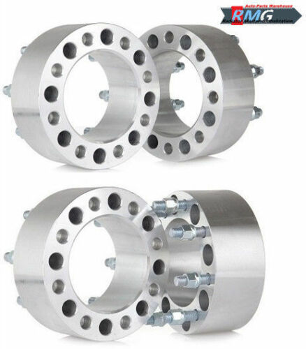 """4PC 3/"""" 8x210  Wheel Spacers  14x1.5  For 2011-2017 Chevy //GMC 3500HD Dually"""