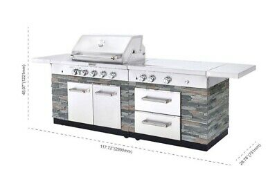 Kitchenaid Stone Island 9 Burner Grill With Cover New