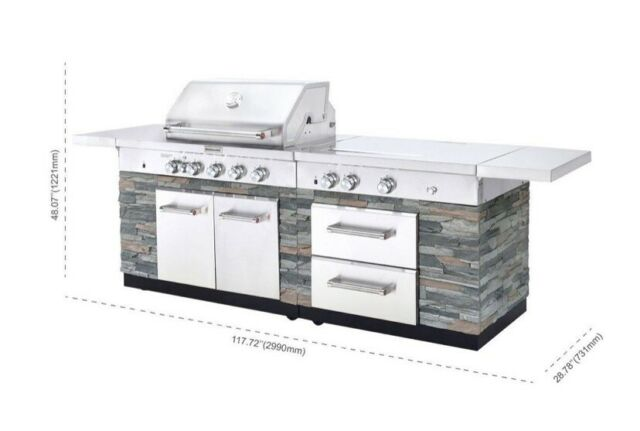 Kitchenaid Stone Island 9 Burner Grill With Cover New Ships From Factory For Sale Online