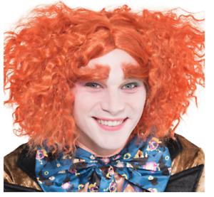Mad-Hatter-Peruecke-Augenbrauen-Set-Kostuem-Zubehoer-Erwachsene-Halloween-Disney-Offiziell