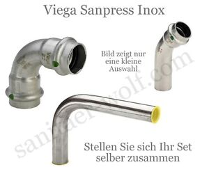 viega sanpress inox pressfitting system edelstahl trinkwasser. Black Bedroom Furniture Sets. Home Design Ideas