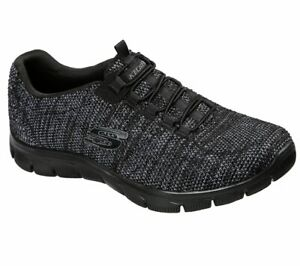 Details zu NEU SKECHERS Damen Sneakers EMPIRE DREAM WORLD Walking Sneaker Schwarz