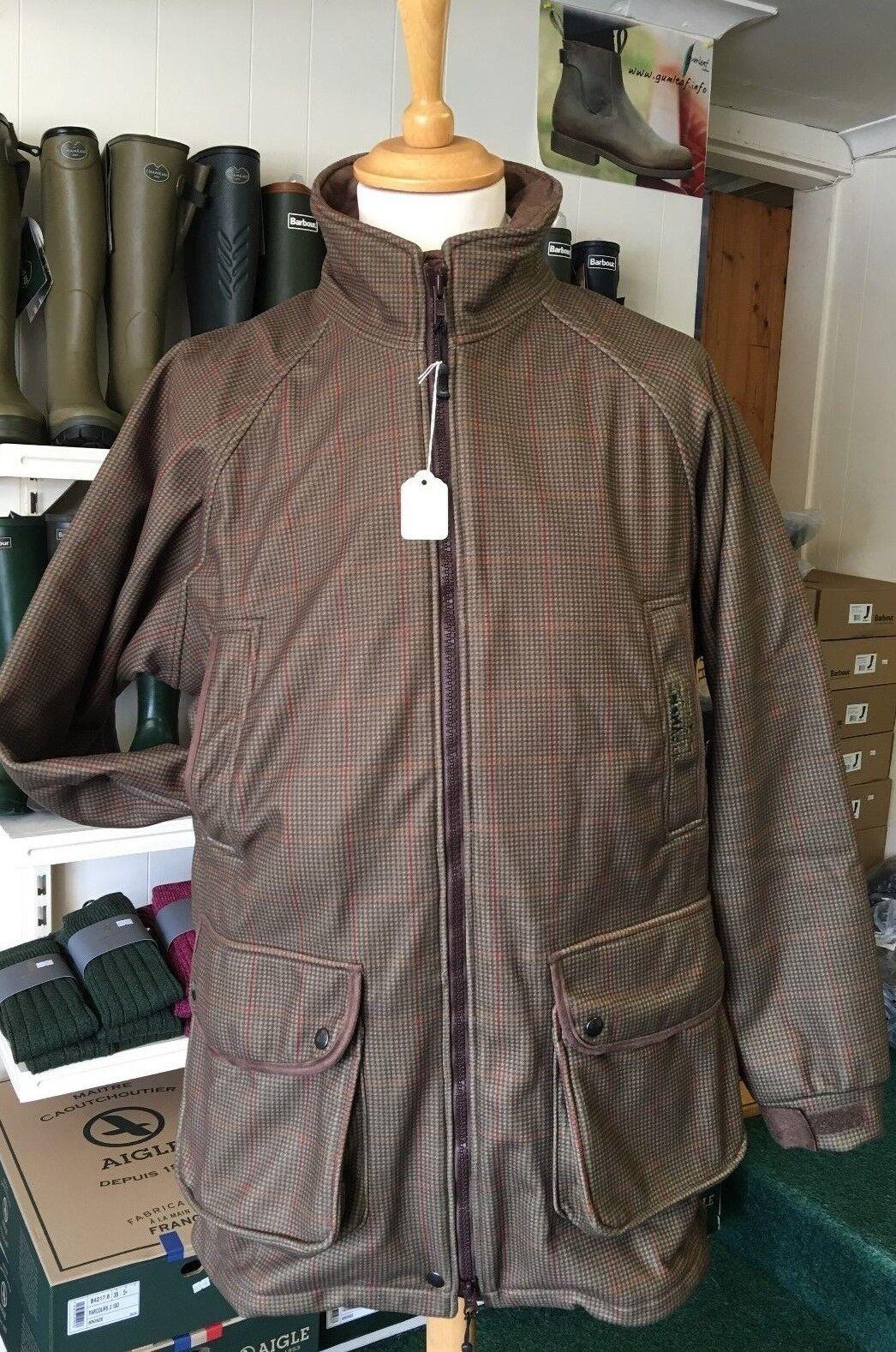 Nomad Reino Unido Grampian Stealth Tweed Tweed Tweed Chaqueta de abrigo de calidad impermeable de disparo de juego. 83d51f