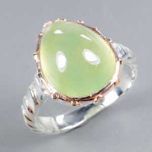 Prehnite-Ring-Silver-925-Sterling-Vintage9ct-Size-9-R130793