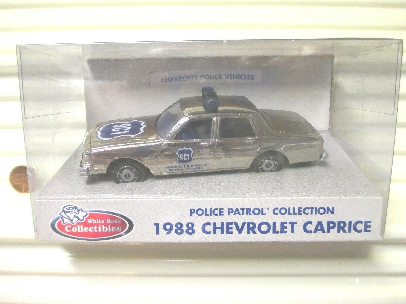 blanc Rose Collectibles  9C1 1988 POLICE PATROL Chrome Chevrolet CAPRICE nuboxed  acheter pas cher neuf