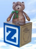 Large Teddy Bear With Alphabet Block Gift Box