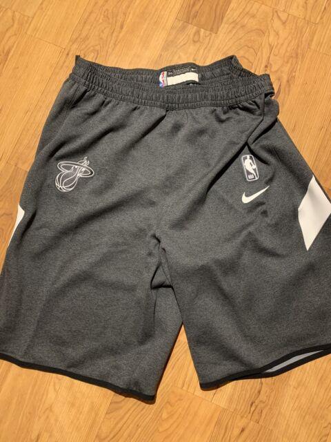 NWT NIKE Miami Heat Authentic NBA Dri-Fit Shorts Sz 3XL Tall AV1087-032