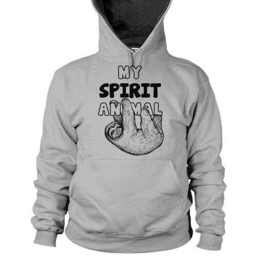 My Spirit Animal Sloth Hoodie Hooded Top Lazy Chilled Day Lounging Relax Slo L69