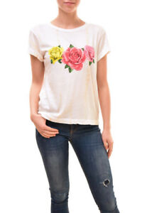 Shirt £81 Wildfox S Rrp Rose Size Women's Authentic Bcf83 Triple White 7Yyb6fg