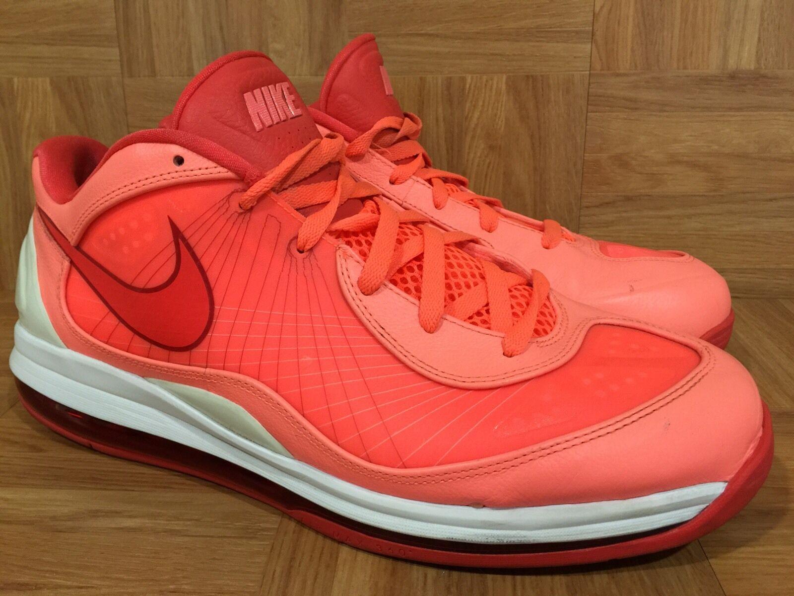 RARE Nike Air Max 360 BB BBALL 1 Mango Infrared White 441947-800 Sz 14 SICK