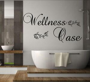 Details zu Wandtattoo Badezimmer Wellness Oase Wellnessoase Wandspruch  Wandaufkleber W29956