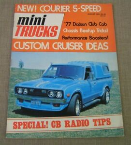 Aug. 1976 Mini Trucks Magazine Issue #2 Chevy Luv, Ford Courier, Datsun & Toyota