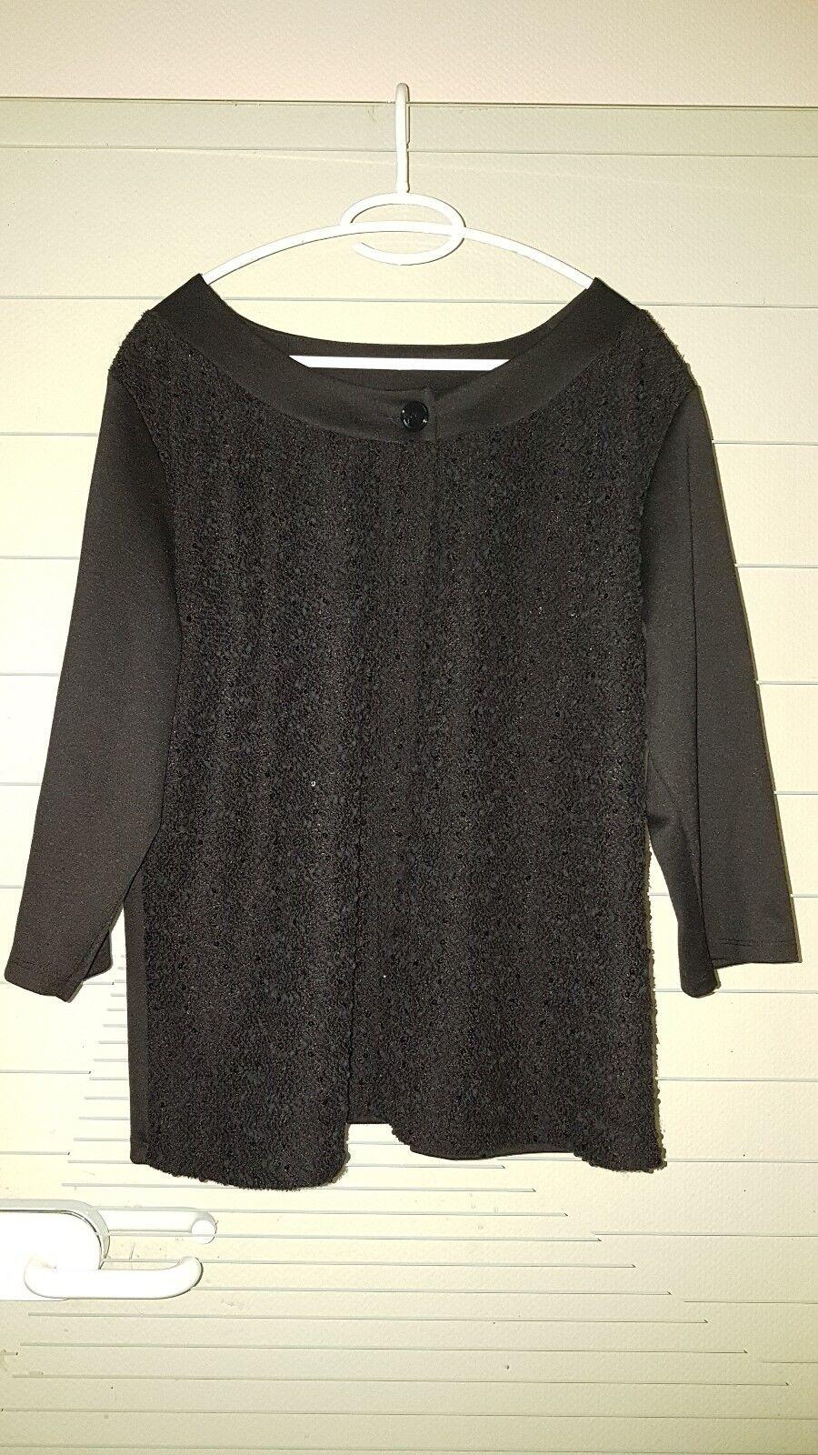 Ladies Top/Blazer/Shirt/Evening Wardrobe Festive Black Size L