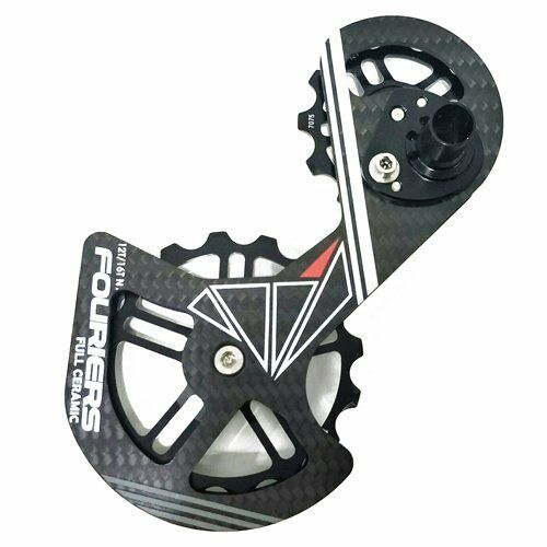 FOURIERS Carbon Derailleur Cage Ceramic Pulley For SHIMANO RD9000 9070 6800 6870
