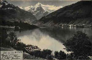 Zell-am-See-Osterreich-AK-1904-nach-Schoenebeck-gel-Blick-gegen-Kitzsteinhorn