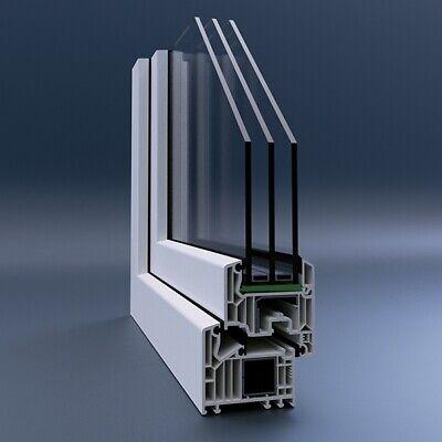 PVC Fenêtre Winkhaus tourne-Kipp-droite Fixe verre 0,5 Veka 82 MD Blanc