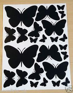 Wall-Art-Butterflies-Sheets-Vinyl-Stickers-Choice-of-3