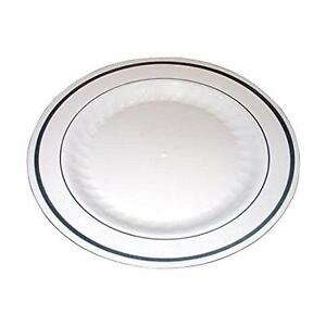 Stock photo  sc 1 st  eBay & Masterpiece 100 Premium Quality Heavyweight Plastic Plates 50 Dinner ...