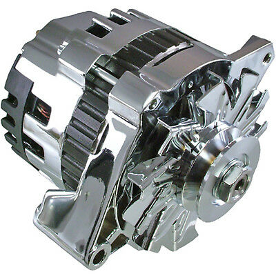 Chrome ONE 1 WIRE ALTERNATOR *220 AMPS* HI OUTPUT FOR CHEVROLET GM