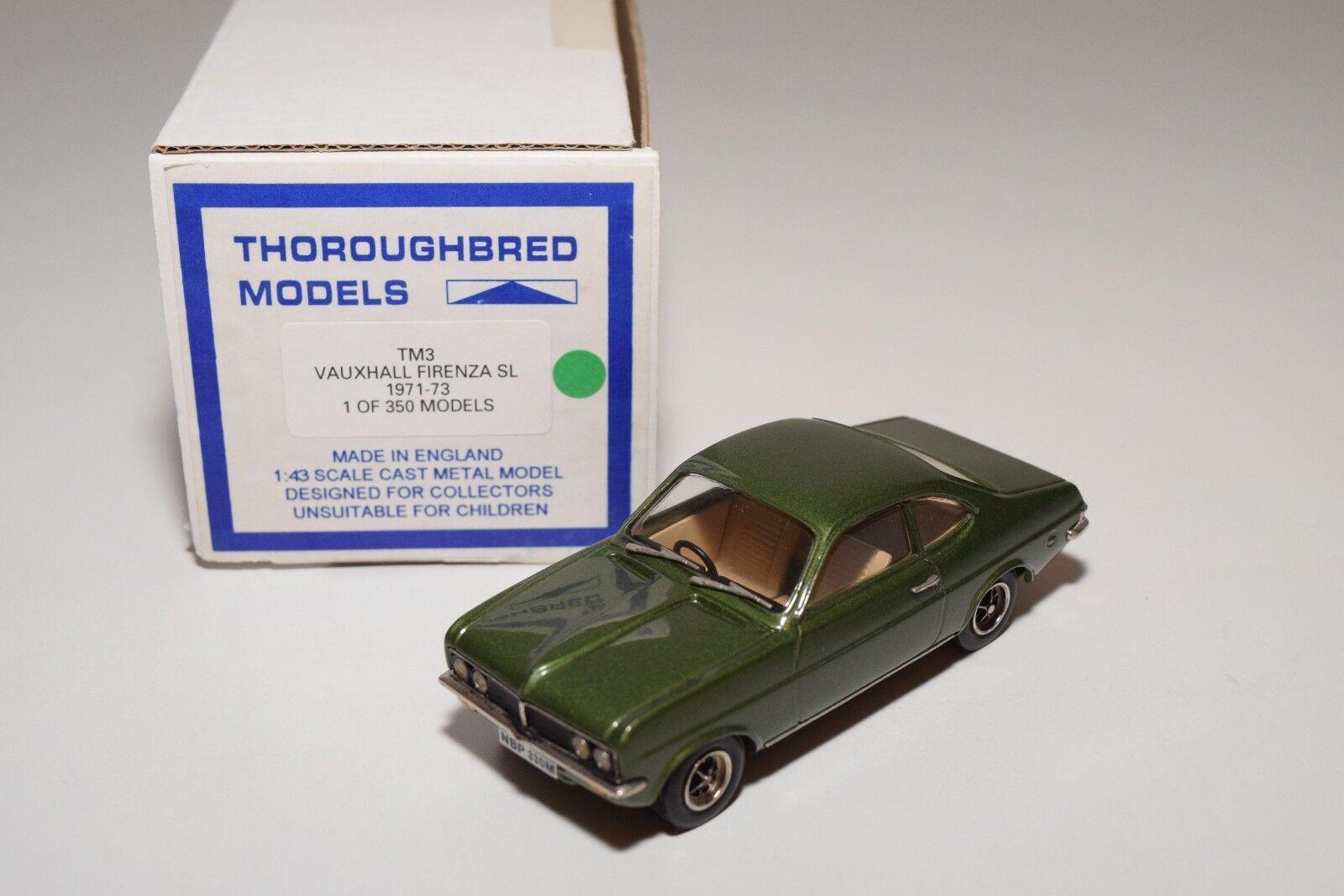 THgoldUGHBRED MODELS TM3 VAUXHALL FIRENZA SL 1971-73 MINT BOXED RARE   1 350