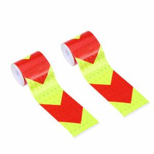 2St-Warnstreifen-Reflektierende-Warnband-Sicherheit-Nacht-Roten-Pfeil-Aufkleber