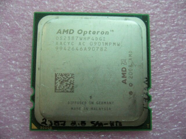 QTY 1x AMD Opteron 2387 2.8 GHz Quad-Core (OS2387WHP4DGI) CPU Socket F 1207