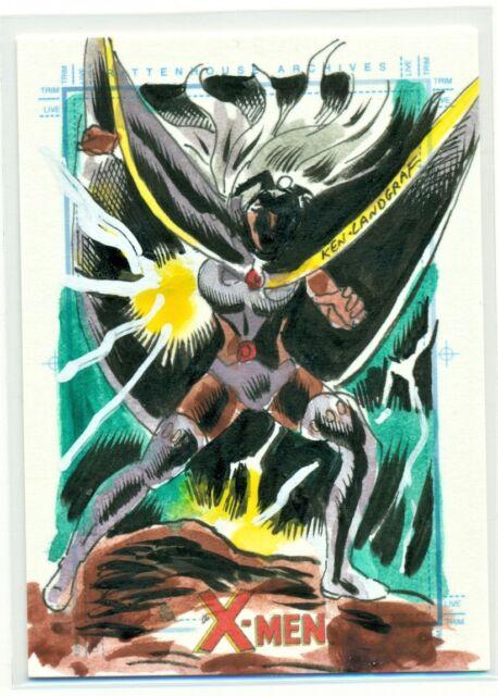 2008 THE X-MEN ARCHIVES SketchaFEX COLOR SKETCH of STORM by KEN LANDGRAF CARD