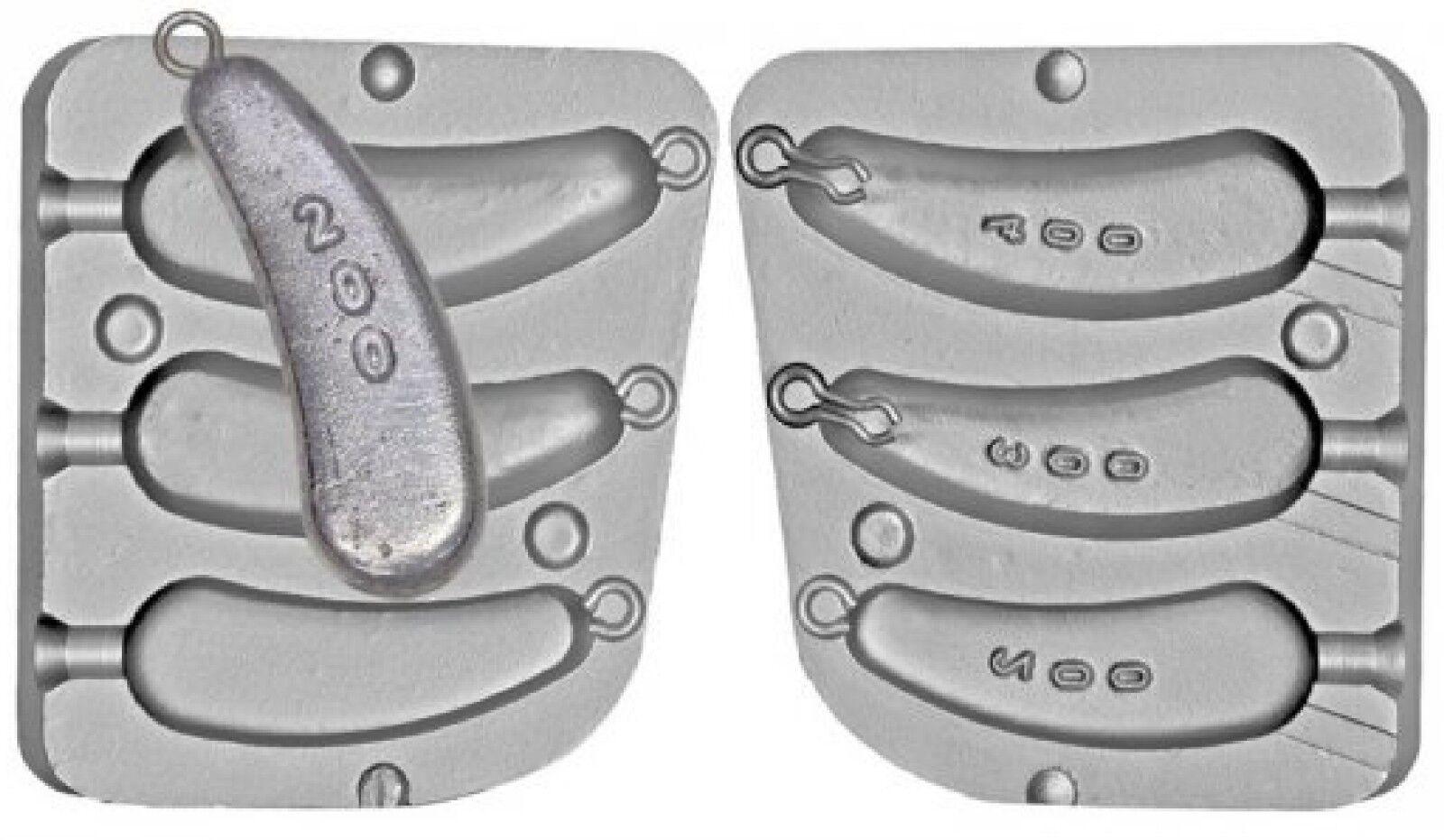 Stampo in in in alluminio per Stile Norvegese PESANTE BARCA pesi 7oz, 10oz e 14oz 206076