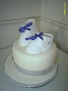 BIRTHDAY CAKE SUGAR SHOES FOR CHILD CELEBRATION OR
