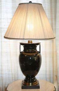 Vintage Frederick Cooper Table Lamp Swirl Pattern Urn