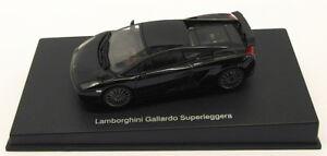 Autoart-AUTO-modello-IN-SCALA-1-43-54612-LAMBORGHINI-GALLARDO-SUPERLEGGERA-Nero