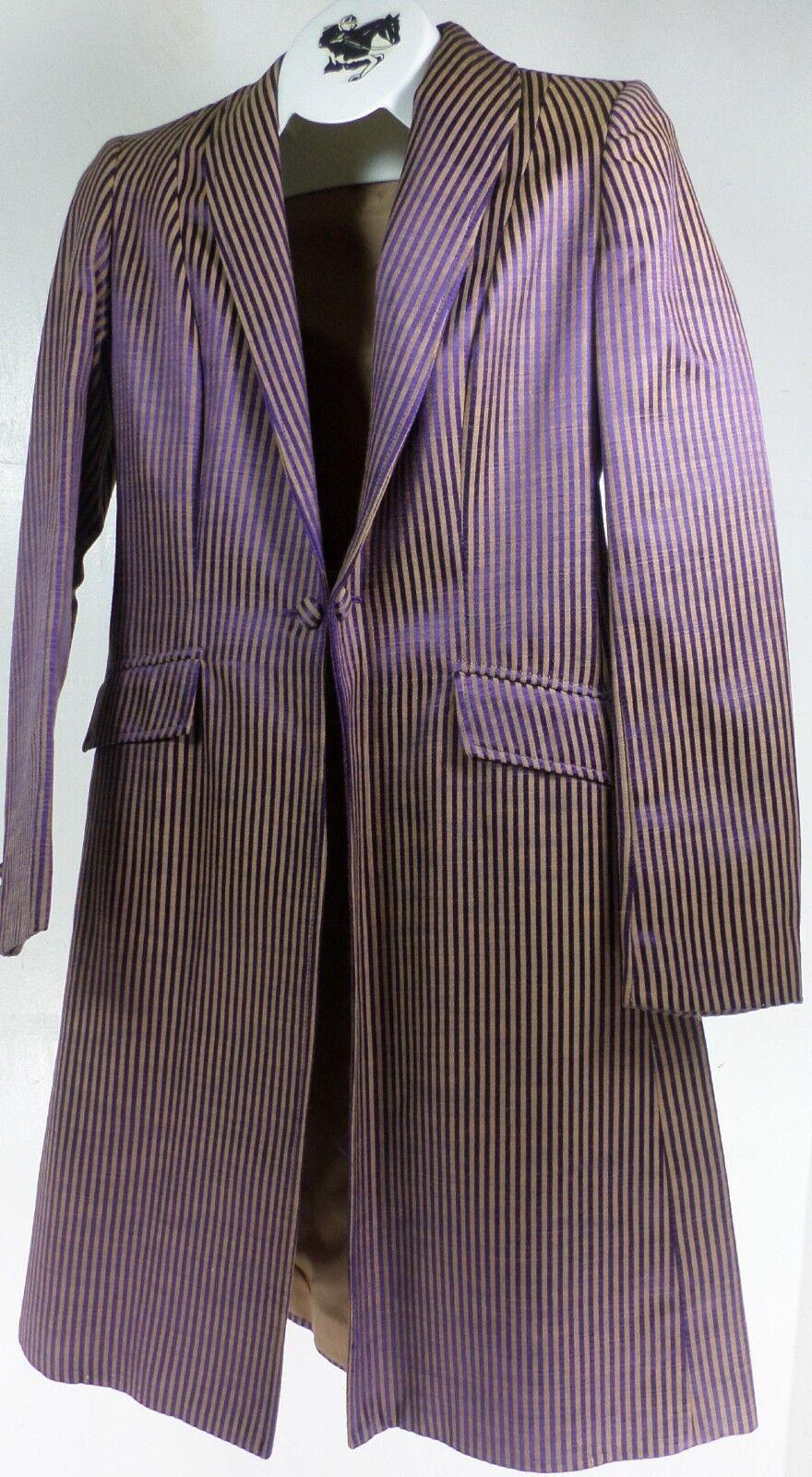 Reed Hill Cotton Saddleseat Day Coat viola / oro Cotton Hill Teflon size 10 - USA a2b7bd