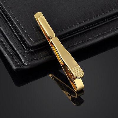 Pop Silver Gold  Black Men Necktie Tie Bar Clasp Clip Cufflinks Set Simple Gift