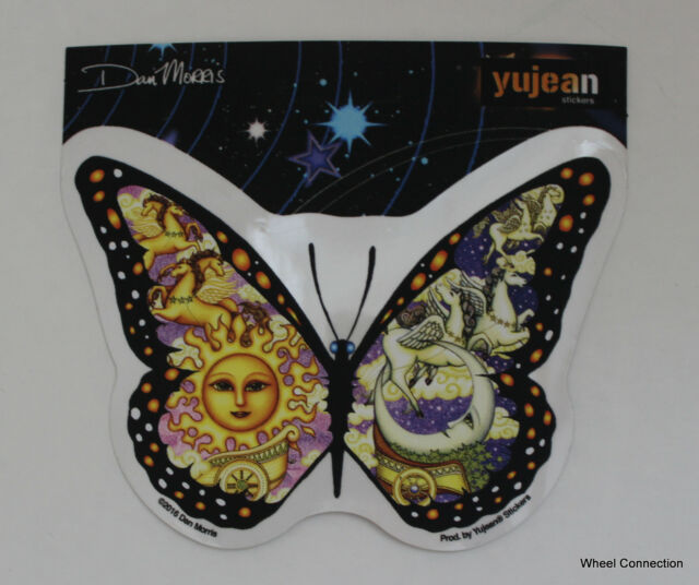 Butterfly Night Day decal sticker Graphic Dan Morris Car Window Computer