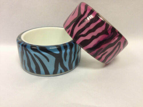 NewLook Pink Leopard Stripe Print  Funky Bright Chunky  Wide Bangle  Also In Fu