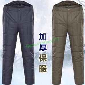 Men-Unisex-Ultralight-Duck-Down-Winter-Snow-Trousers-Casual-Pants-Adult-Outdoor