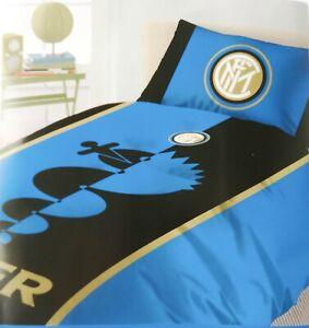 iNTER singolo 1 piazza cotone Completo letto ufficiale lenzuola squadra F.C