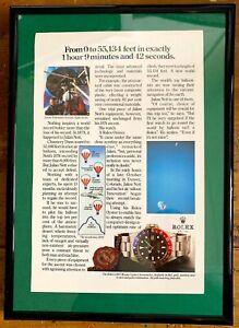 ROLEX-Vintage-GMT-Master-16750-Original-Advert-Advertising-Memorabilia-Frame