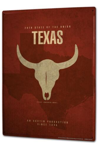 Blechschild XXL Abenteurer USA Texas Langhorn
