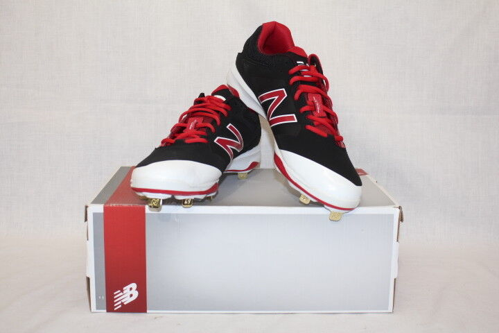 NEW BALANCE L4040BR3 Mens Red and Black Baseball Cleats 10 1/2 D Med.-B111